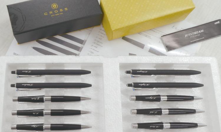 パッド印刷で個別名入れペン仕上げ